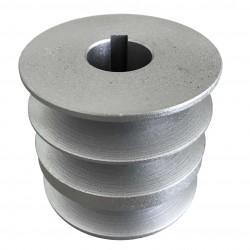 Шкив на вал 25 мм. (внешний диаметр 76 мм. 3 ручья)