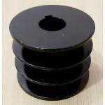 Шкив 76 мм на вал 25.4 мм под ремни профиль Б