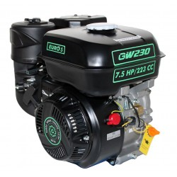 Двигатель бензиновый GrunWelt GW230F-T 25 (7.5 л.с. вал Шлицы 25 мм)