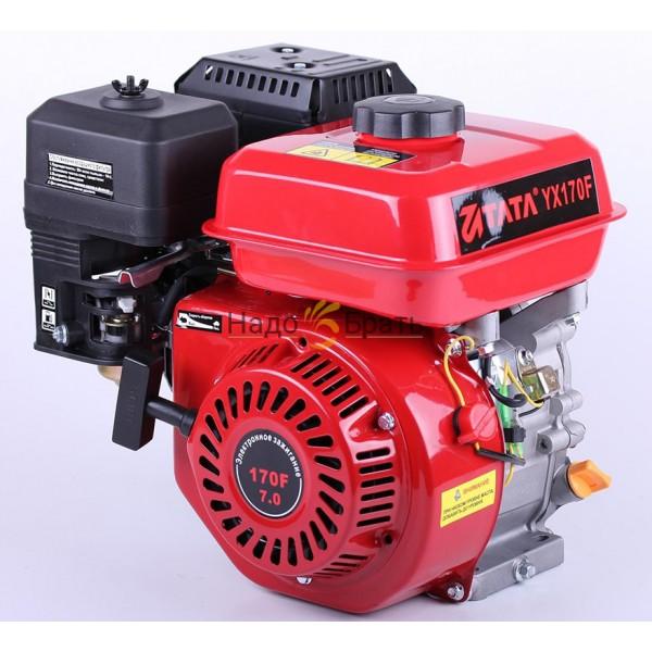 Двигатель бензиновый ТАТА 170F (Вал шпонка 19 мм Масляный фильтр)