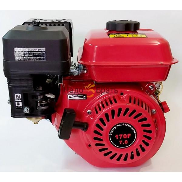 Двигатель бензиновый ТАТА 170F (Вал шпонка 20 мм Масляный фильтр)